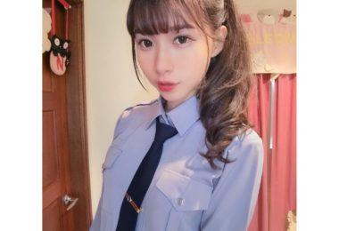 白皙長腿正妹題題Ti Ti Yang 未來的警察甜美自拍讓人想犯罪被抓