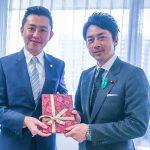 林智堅暖心祝賀 日本型男議員小泉進次郎結婚