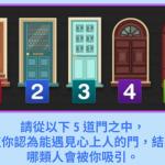 超準心理測驗!憑直覺選「一扇門」 看出哪些人會喜歡你