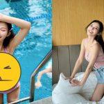 無名正妹泳裝「上下齊露」 網驚:好危險