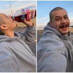 上班沿路「溜滑板喝蔓越莓汁」 大叔22秒短片賺57萬+1台車